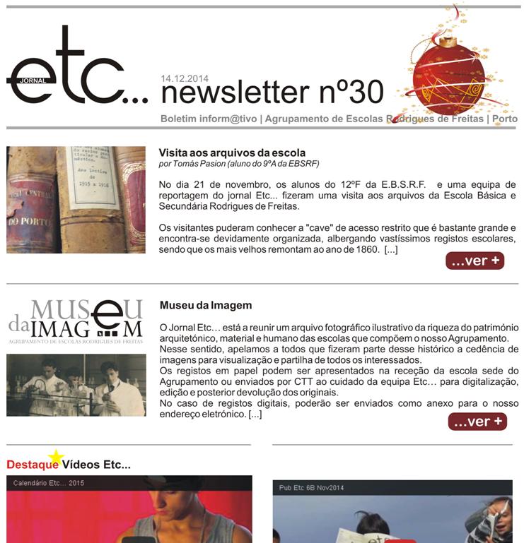 newsletter jornal ETC.
