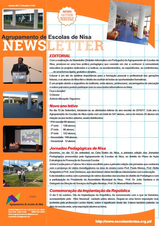Agrupamento de Escolas de Nisa - Newsletter