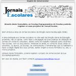 Registe o Jornal da sua Escola!