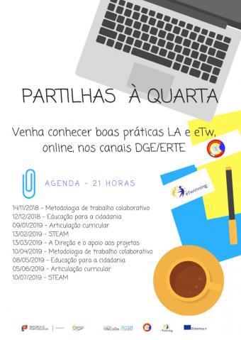 Partilhas à Quarta (2018/2019) - Cartaz