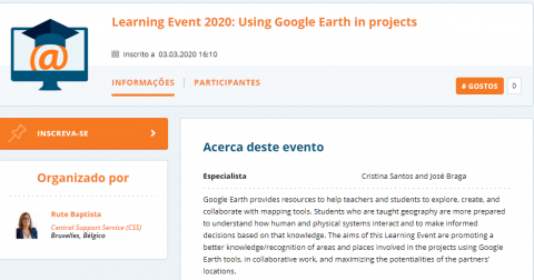Learning Event 2020: Using Google Earth in projects