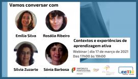Webinar: Vamos conversar com   Contextos e experiências de aprendizagem ativa